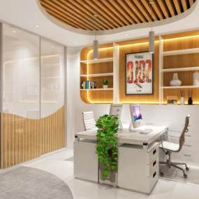 现代办公室3D模型【ID:952979072】