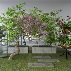 新中式园艺小品3D模型【ID:135847427】