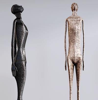 现代抽象人物雕塑摆件饰品3D模型【ID:340913131】
