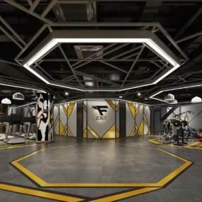 现代风格健身房3D模型【ID:731005811】