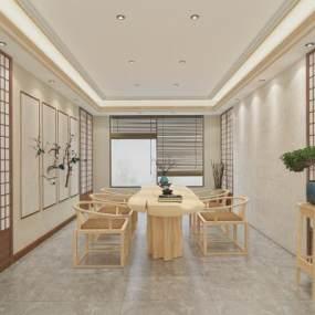 新中式茶餐厅3D模型【ID:644660644】