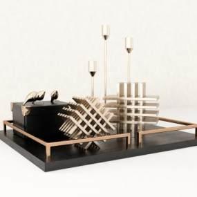 現代金屬藝術品擺件3D模型【ID:248196519】