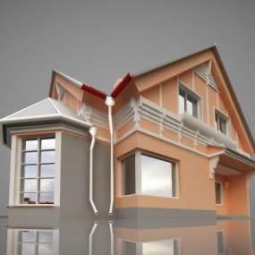 北欧别墅3D模型【ID:134786323】