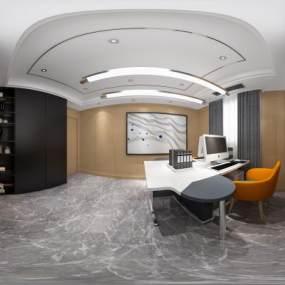 現代輕奢辦公室3D模型【ID:947344008】