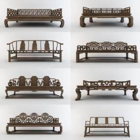 新中式沙发组合3D模型【ID:634746716】