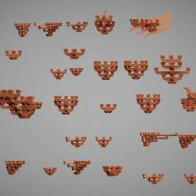 中国古建筑构件3D模型【ID:132699906】