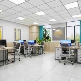 现代简约办公室3D模型【ID:953754096】