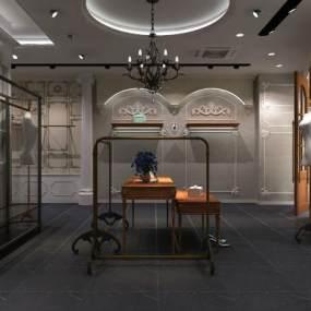 欧式复古服装店3D模型【ID:148953039】