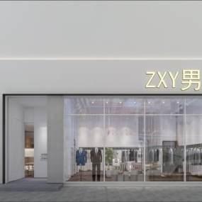 现代服装店3D模型【ID:931045809】