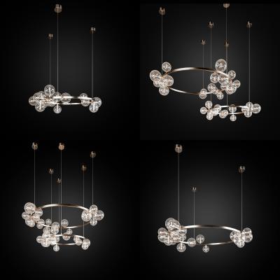現代輕奢吊燈組合3D模型【ID:751136809】
