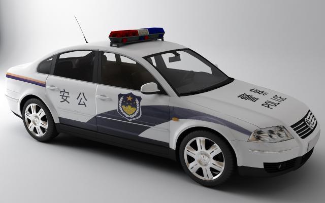 现代警车3D模型【ID:435629728】