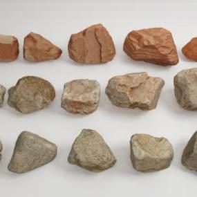 現代石頭景觀石3D模型【ID:134474493】