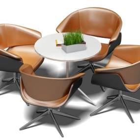 现代休闲桌椅3D模型【ID:832537952】