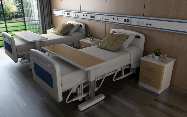 现代病床医用床3D模型【ID:932468047】