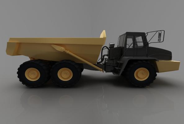 現代風格推土車3D模型【ID:443550705】