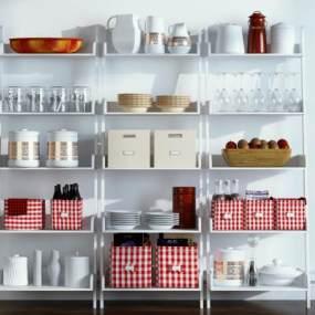 现代厨房用品组合3D模型【ID:232924500】