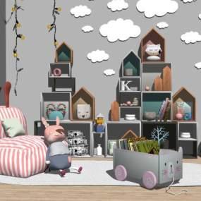 北欧?#30340;?#20799;童柜玩具 儿童沙发 布偶【ID:153302326】