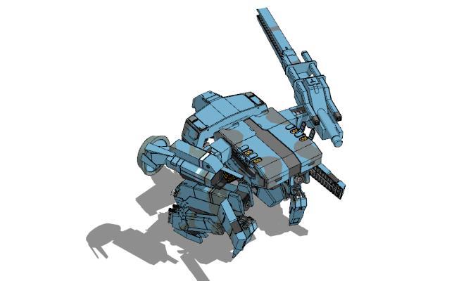现代变形机器人玩具SU模型【ID:151891294】