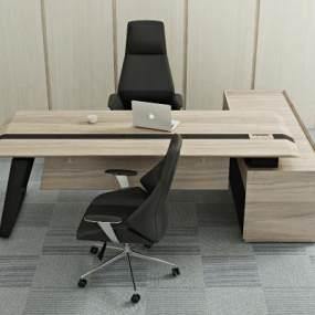 现代办公桌椅3D模型【ID:935809157】