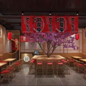 日式料理餐厅3D模型下载【ID:649025228】