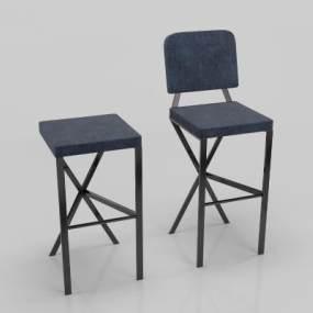 现代吧台椅3D模型【ID:736270219】