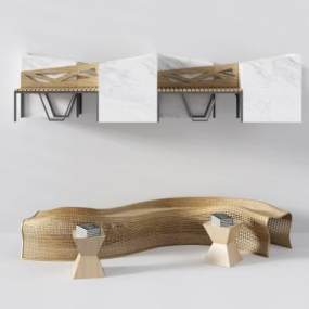 现代公共座椅异形椅3D模型【ID:730669475】