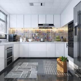 現代廚房3D模型【ID:550573323】