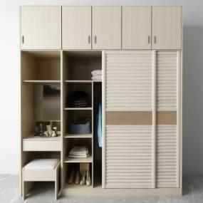 現代衣柜3D模型【ID:150584412】