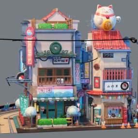 现代玩具楼3D模型【ID:334395434】