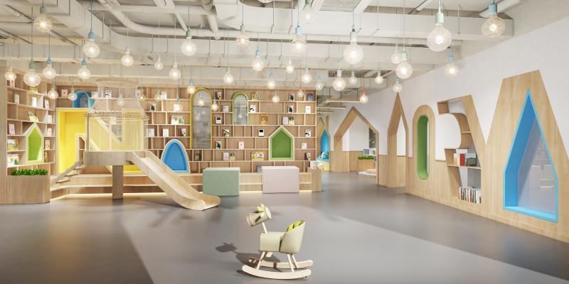 现代幼儿园大厅3D模型【ID:943265618】
