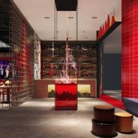 现代风格音乐餐厅3D模型【ID:653848203】