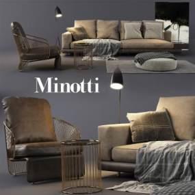 欧式古典沙发国外3D模型【ID:632030750】
