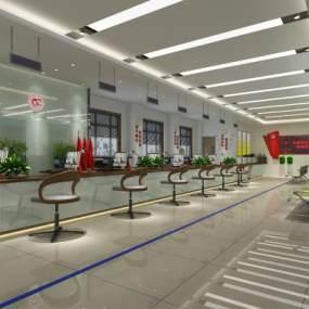 现代服务大厅 3D模型【ID:942328973】