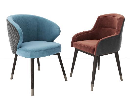 现代餐椅3D模型【ID:745938155】