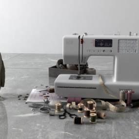 现代缝纫机3D模型【ID:433703530】