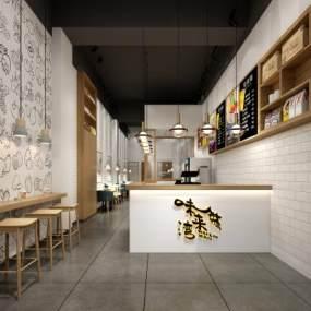北欧奶茶店3D模型【ID:644681416】