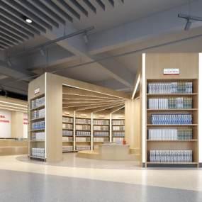 学校图书馆3D模型【ID:943737815】