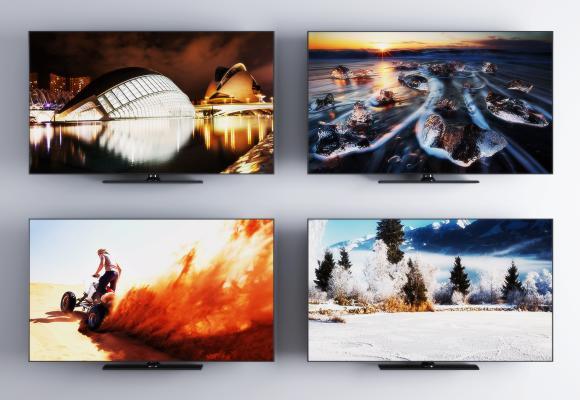 现代液晶电视机3D模型【ID:453070049】