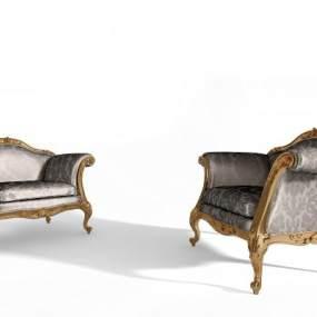 欧式单人沙发3D模型【ID:630723431】