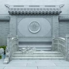新中式徽派建筑3D模型【ID:137126437】