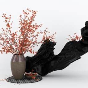 新中式人物摆件3D模型【ID:335807011】
