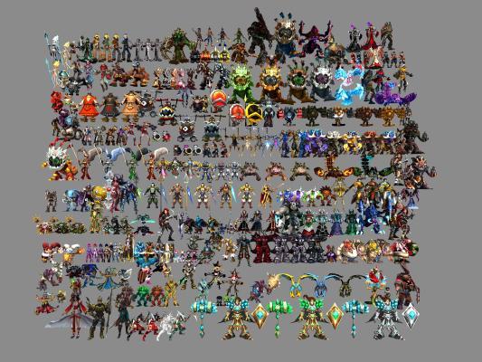 現代英雄聯盟角色3D模型【ID:345484000】