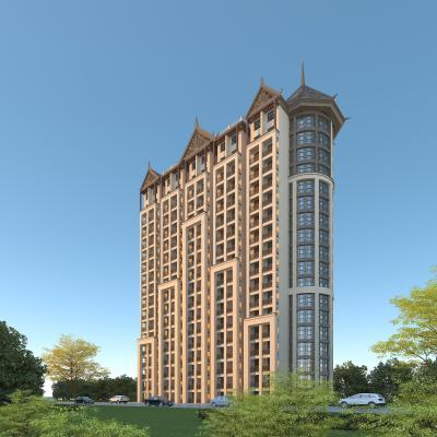 東南亞風格公寓3D模型【ID:146782949】