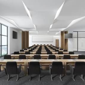 现代会议室3D模型【ID:950697123】