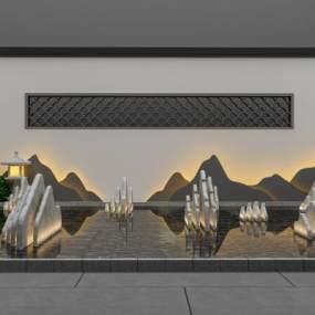 新中式小景观3D模型【ID:133215470】