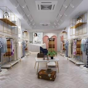 现代女装服装店3D模型【ID:150405064】