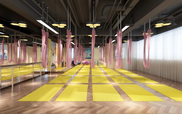 北欧瑜伽教室3D模型【ID:746789838】