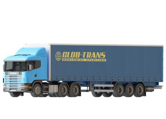 現代大型貨車汽車3D模型【ID:442052703】