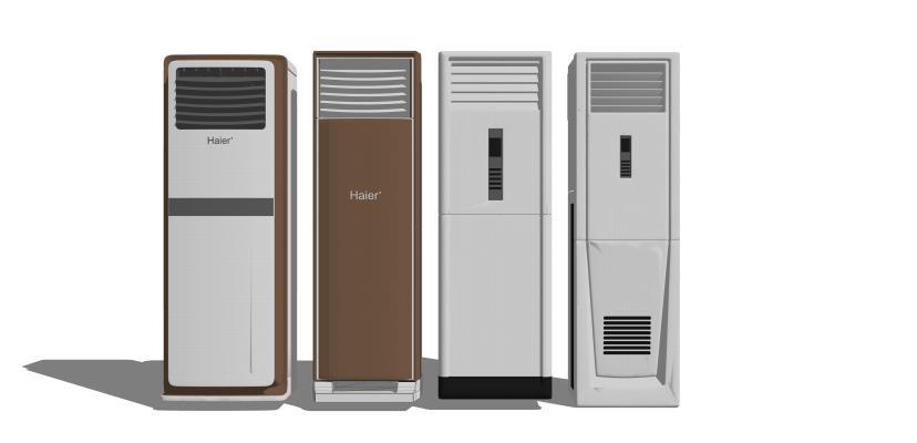 現代柜機空調組合SU模型【ID:747991073】