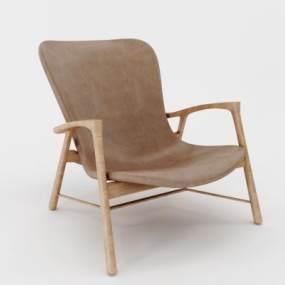 现代北欧椅子3D模型【ID:732355067】